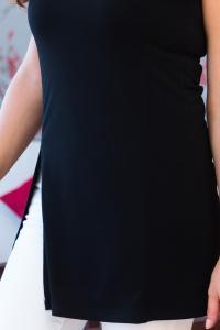 Černá stylová halenka s rozparkem