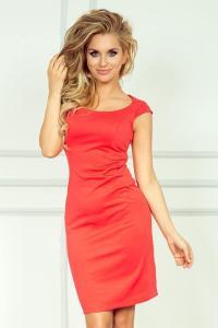 Luxusní dámské korálové elegantní šaty