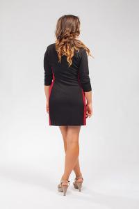 Dámské dvoubarevné mini šaty