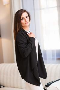 Luxusní jednobarevný cardigan svetr
