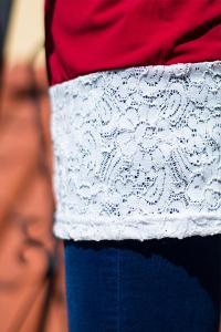Trendy krajková halenka s rukávy