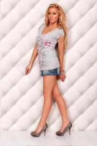 Tričko s mini rukávky