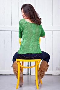 Dámský zelený svetr 53