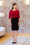 Pouzdrové dámské šaty s krajkovou sukní