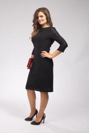 Černé elegantní šaty z krajky