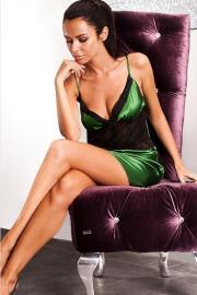 Luxusní zelená košilka Miran 100-10-2