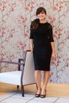 Luxusní krajkové černé šaty s rukávy