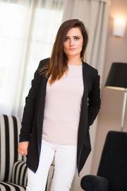 Dámský cardigan svetr s lemováním