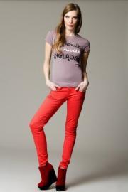 Barevné dámské úzké kalhoty 67