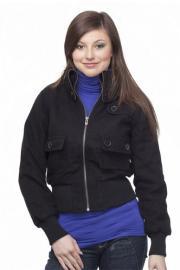 Moderní jarní černá dámská bunda