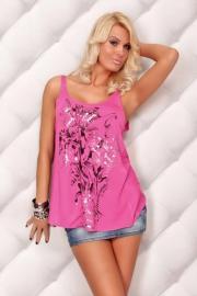 Letní růžový top