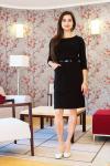 Dámské černé šaty s kapsami