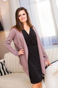Dámský asymetrický cardigan svetr