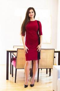 Stylové dámské šaty vínové s krajkou
