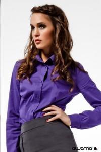 Fialová dámská košile dlouhý rukáv