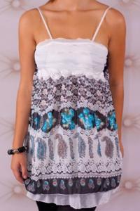 Dámský bílý top/ mini šaty