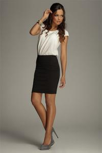 Dámská trendy sukně černá Figl 84