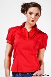 Dámská červená košile Awama 22-2