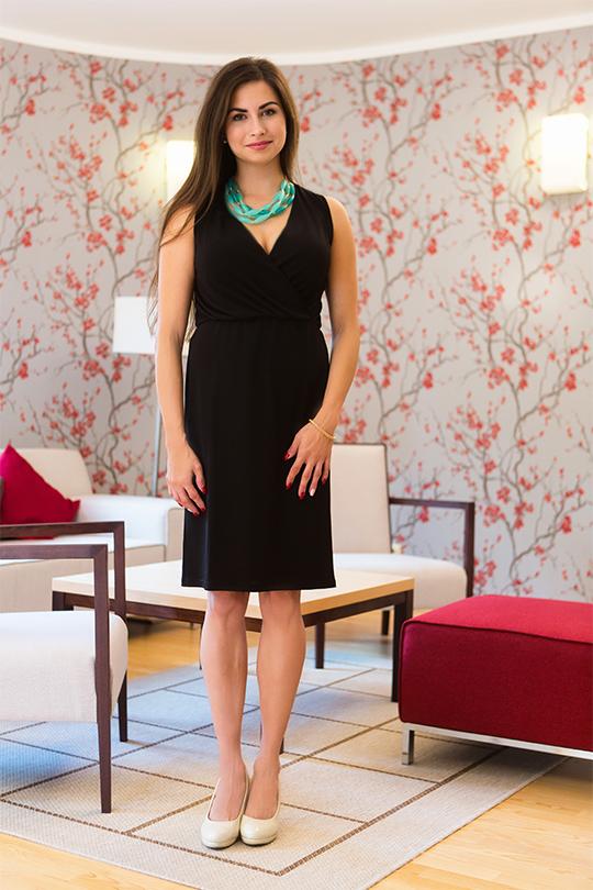 Módní dámské šaty bez rukávů Veraal - černé 2fb96cd7d6e
