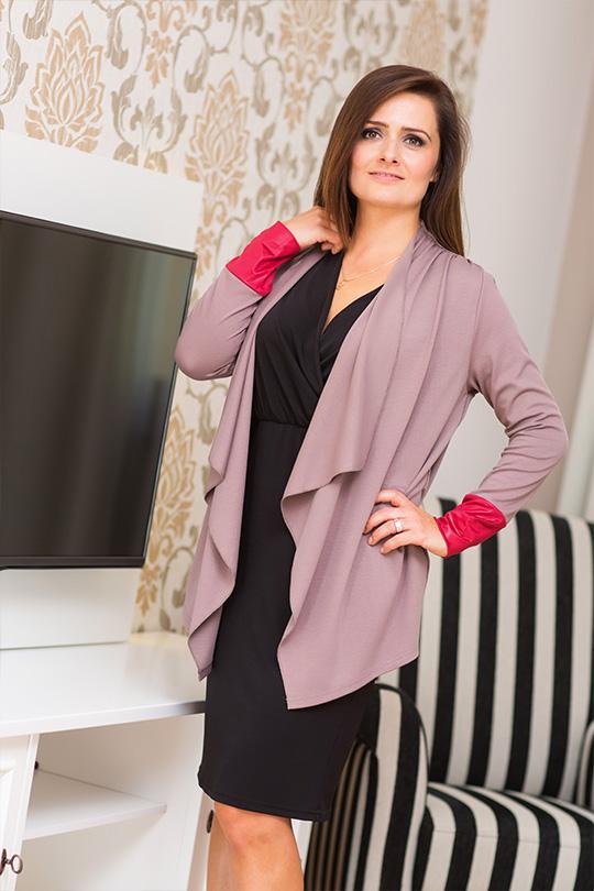 Asymetrický dámský cardigan svetr Veraal Collection - béžová