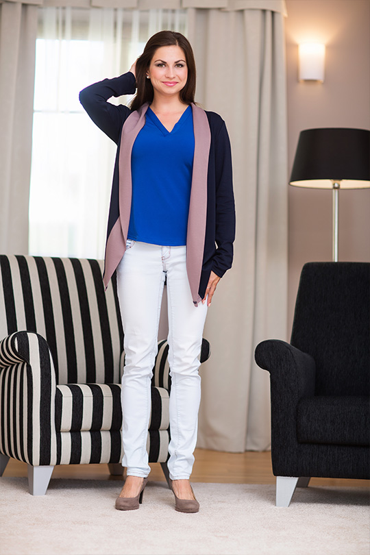 Moderní dámský cardigan Veraal Collection - modrá